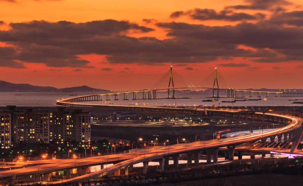Incheon: Songdo bridge south korea