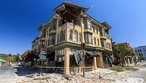 Earthquake zones in USA: Napa Valley