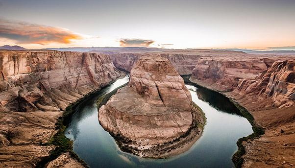The lowering of the Colorado River water level