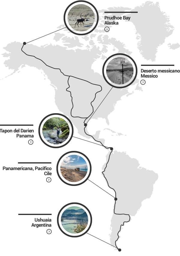 Panamericana: mappa