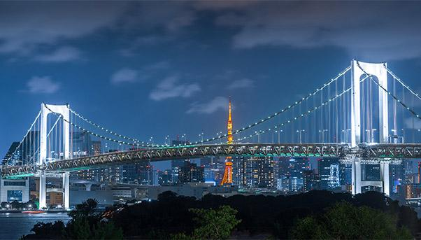 Tokyo's bridge and other infrastructure