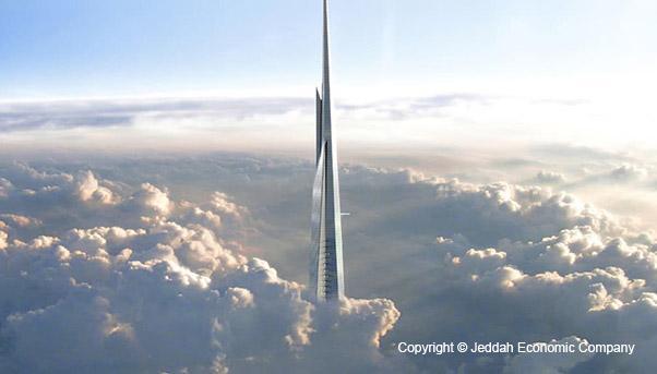 The Jeddah Tower in Saudi Arabia
