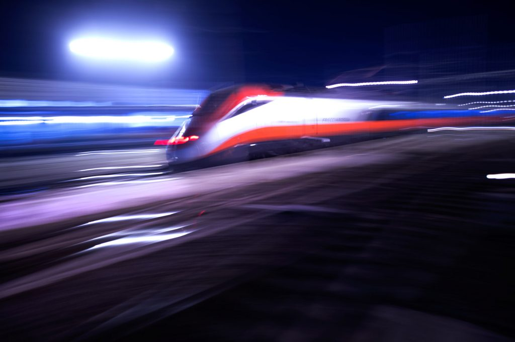 High-speed train in Europe