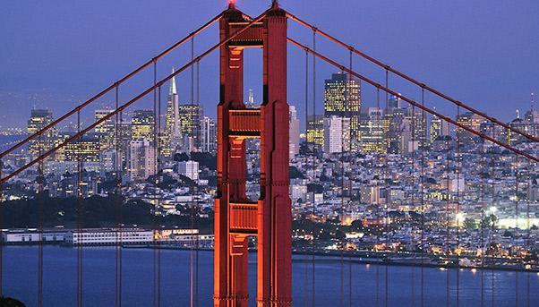 Golden Gate di San Francisco di sera
